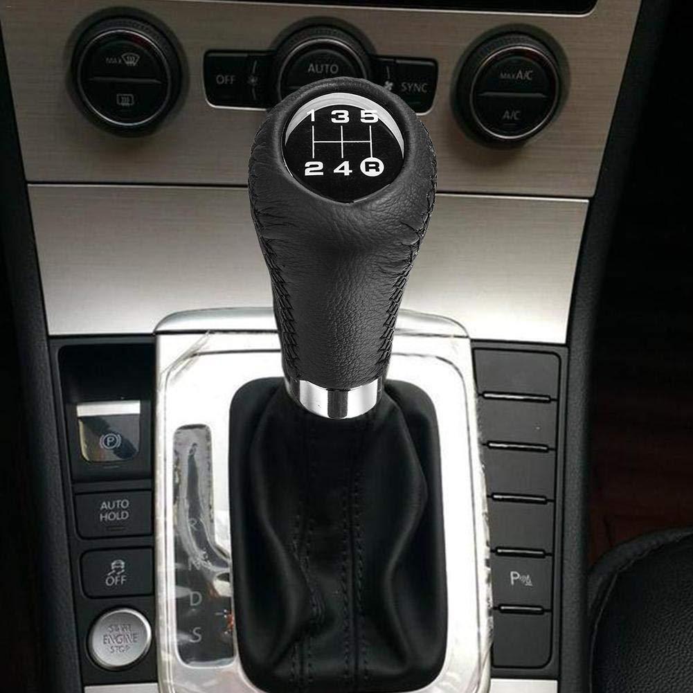 Forwei 5 Speed Gear Shift Knob Head Car Gear Shift Knob Manual Replacement