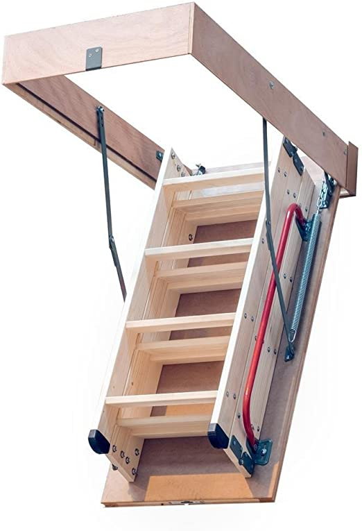 Escalera DJM para ático o loft, plegable, de madera, 2,8 m, estructura de 1100 x 550 mm: Amazon.es: Bricolaje y herramientas