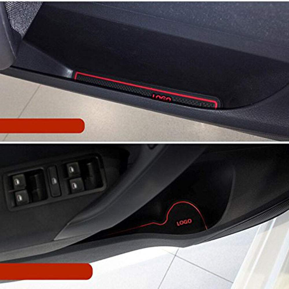 YYD Auto rutschfest Innent/ür Cup Kissen Mat Aufkleber 2009-2015 Hyundai IX35 Zubeh/ör,Luminous