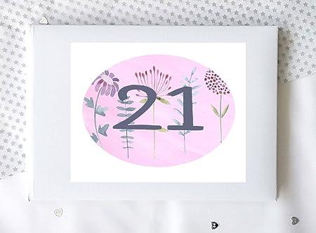 21st cumpleaños libro, libro de recuerdos, 21 de regalo de ...
