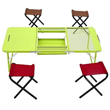 Chaises Deux Quatre Avec Pliable Pliante Heights Combo Tomshoo Table Iyfv6bgY7m