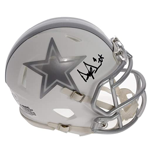 68555bfe10b Amazon.com  Dak Prescott Autographed Signed Dallas Cowboys Alternate ICE  Mini Helmet - JSA Certified Authentic  Sports Collectibles