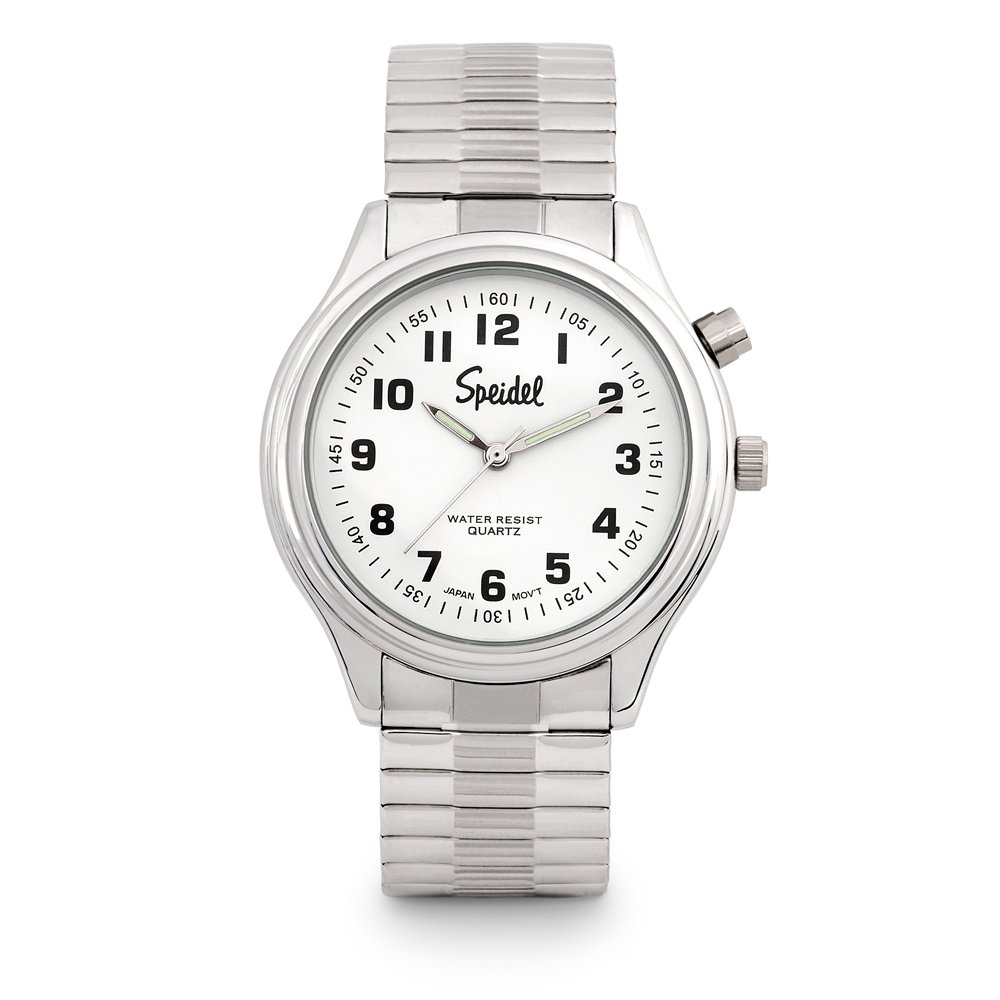 Speidel Mens El Lights Expansion Timepiece in Silver Tone
