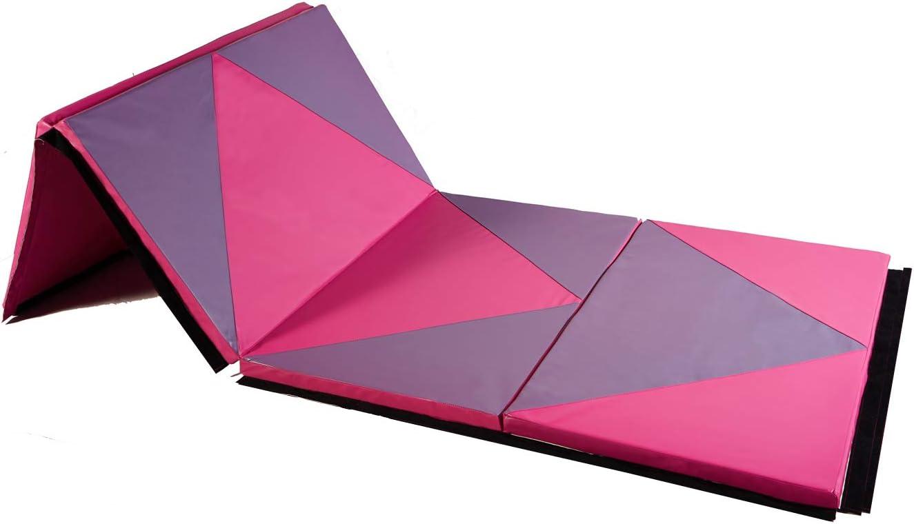 ZENOVA Gymnastic Mat 2x6x2//4x6x2 Folding Tumbling Mats for Kids Thick Gym Workout Mats Home Fitness Exercise Mat