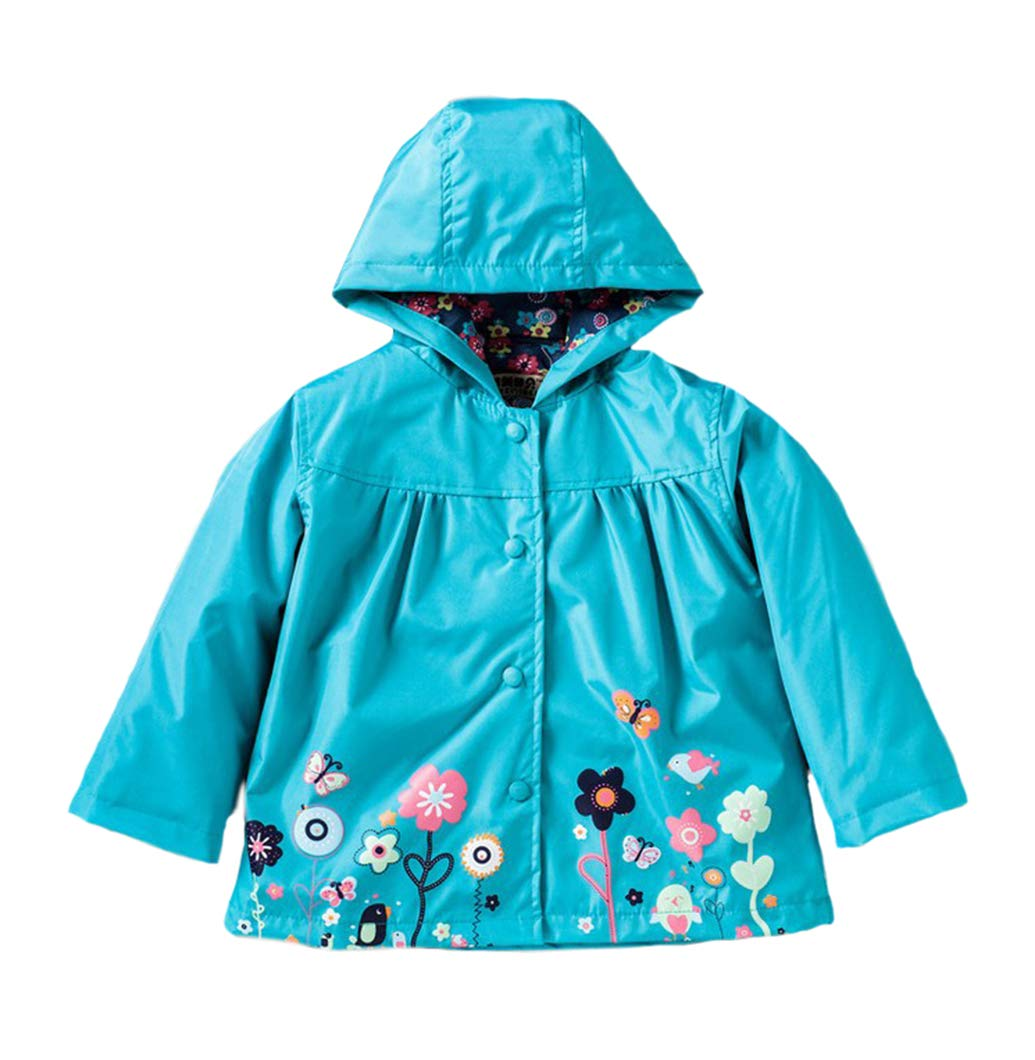 Little Girls Peppa Pig Raincoat Hoodies Waterproof & Breathable Rain Jackets