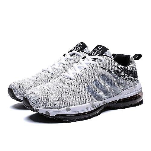 chaussures de séparation f9824 69e1e Homme Femme Chaussures de Course, Chaussures de Sport Basket Running  Respirantes Athlétique Sneakers Courtes Fitness Tennis