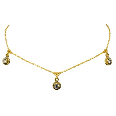 Silver Virgins Saints Angels Jewelry VSA Santa Monica 3 Crystal Choker