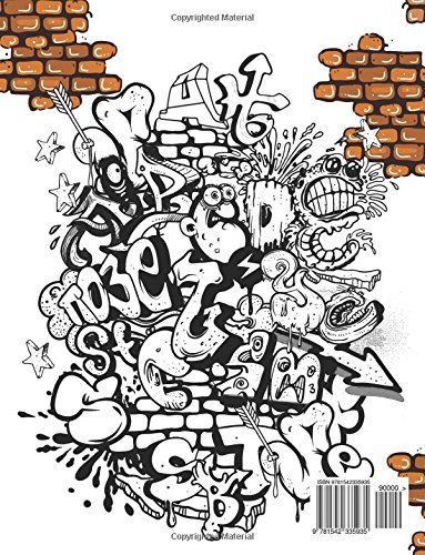 Amazon Graffiti Coloring Book For Adults 9781542335935 Georgia A Dabney Hipster Books