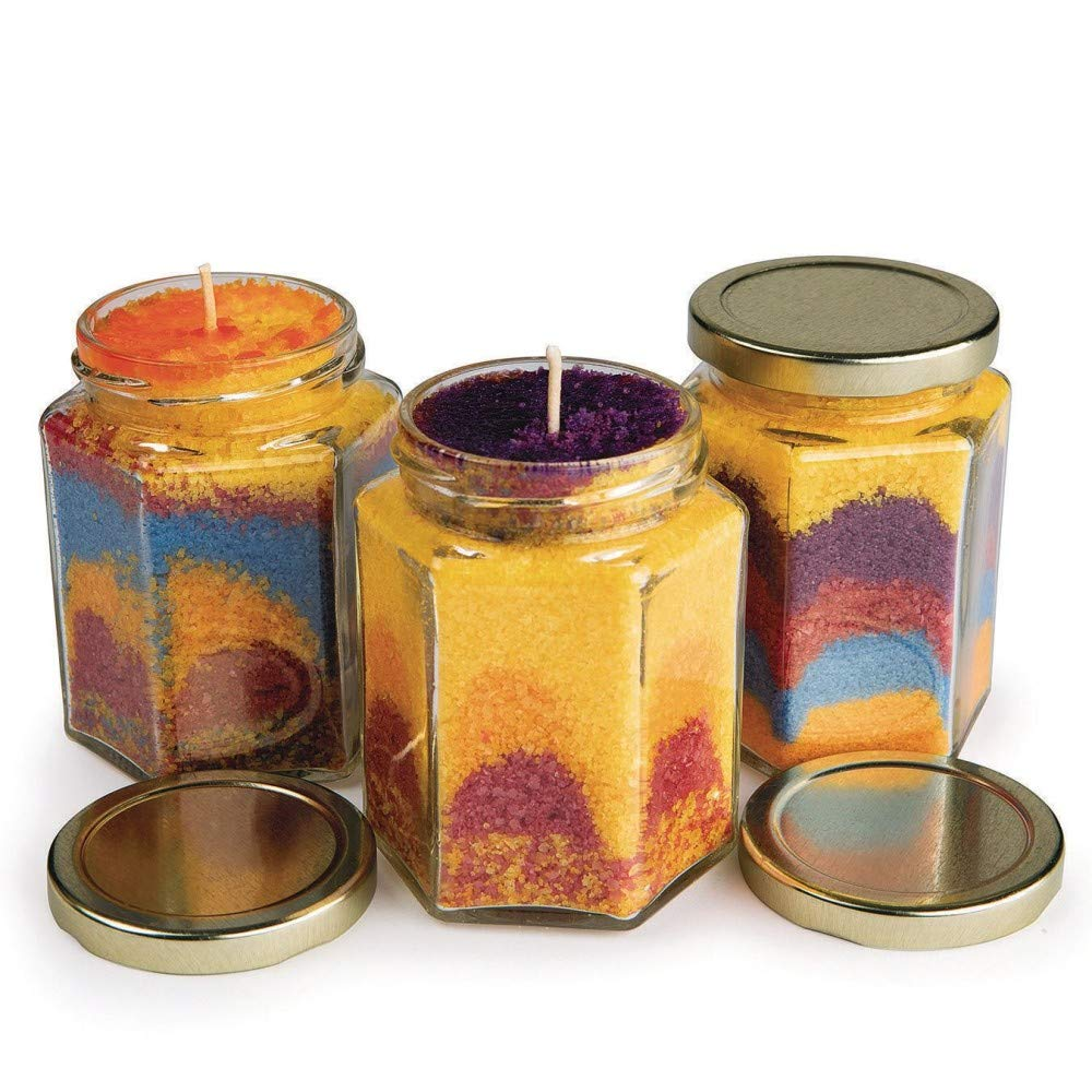 S&S Worldwide Wax Art Candle Craft Kit (Makes 12)