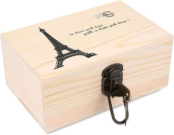 Pawaca - Caja de Madera con Llaves para Regalo, colección de Tarjetas, Caja de Regalo y decoración del hogar: Amazon.es: Hogar