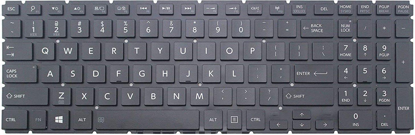 Original New Laptop Replacement Backlit Keyboard for Toshiba L55-B5294 L55-B5394 L55-B5396 L55-B5276 US Layout Black Color