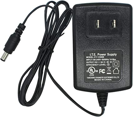 2-Pack AC to DC 12V 3A Power Supply Adapter 5.5mm x 2.1mm for CCTV Camera DVR NVR UL Listed FCC CY-123000