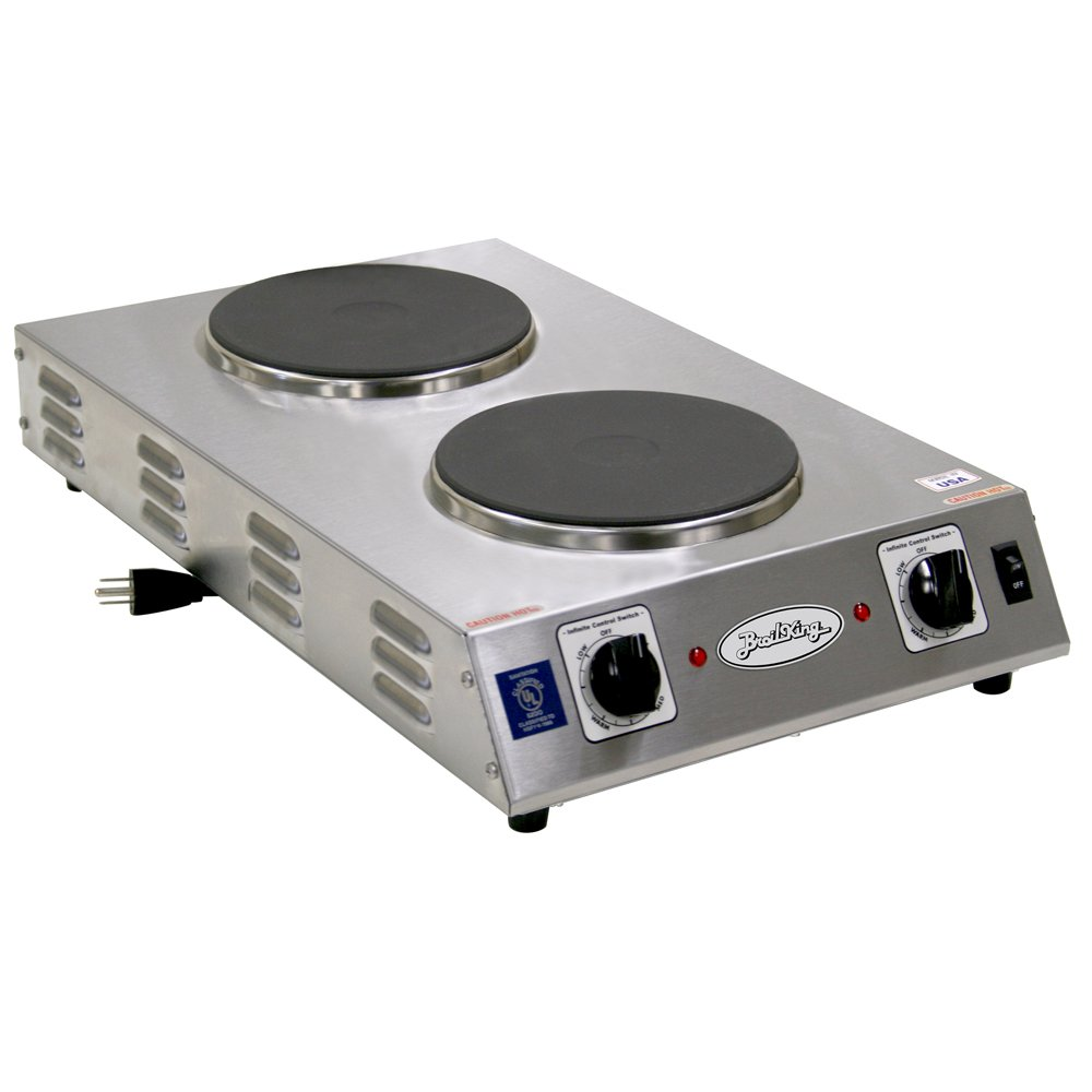 Broil King CDR-2CFBB Professional Double Space Saver Hot Plate, Grey