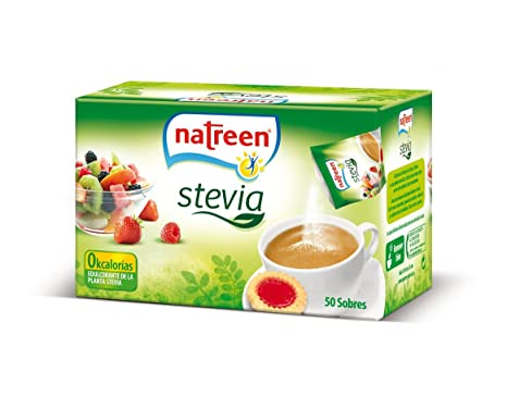Natreen Edulcorante Granulado Sobre Stevia - 50 unidades ...