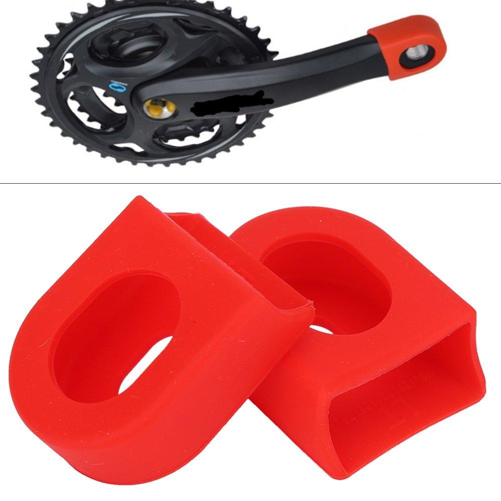 2Pcs Crank Arm Boots Protectors Plastic Crankset Protectors for Mountain Bike Road Bike