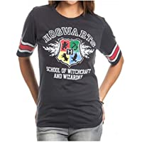 Bioworld Harry Potter Hogwarts Juniors Black Hockey T-Shirt