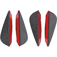 FidgetKute 6Pcs Car Bumper Lip Splitter PVC Fins Body Spoiler Canards Refit Gloss Black