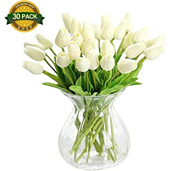 Amazon xhsp 30 pcs real touch artificial tulip flowers home xhsp 30 pcs real touch artificial tulip flowers home wedding party decor mightylinksfo