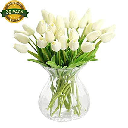 Amazon Xhsp 30 Pcs Real Touch Artificial Tulip Flowers Home