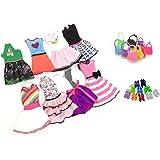 Lance Home 8 Abiti 10 Paia di Scarpe 10 pz Borsa per Barbie Accessori Regali per bambino (28pz)