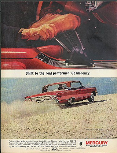 Shift to the real performer Go Mercury Monterey S-55 2-dr HT ad 1963