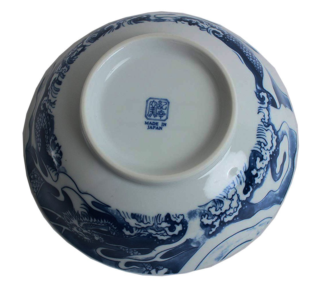 Happy Sales Japanese Porcelain Tea Set Imperial Dragon Blue Hsmp6d