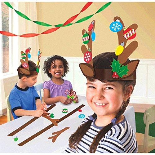Reindeer Headband Craft - Reindeer Antler Craft Kit - 40 Pieces - Great for Christmas