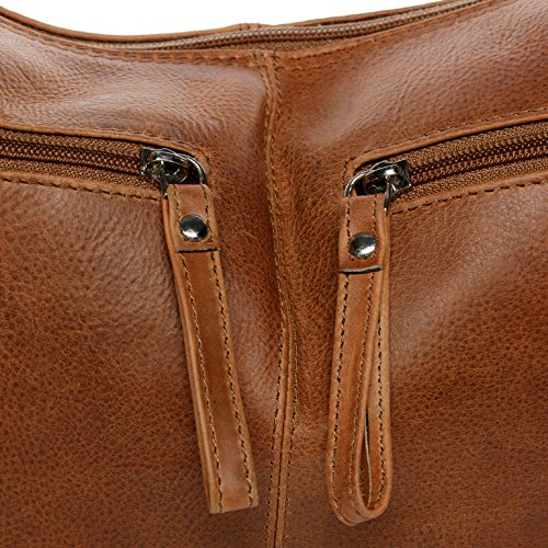 x para grande 45 29 bandolera x bolso marrón 5 Bolso cm BACCINI piel genuina HOBO hombro SIENNA Boho w6Oxzq40