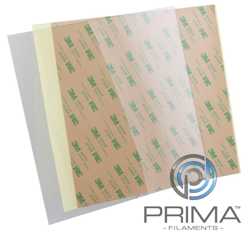 PrimaCreator PF-PEIU-500x500-05 PEI Ultem Sheet 0.2 mm with 3M 468MP Tape 500 mm x 500 mm