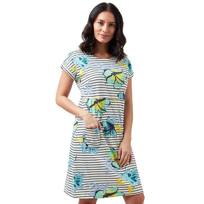 Weird Fish Women/'s Biscayne Printed Cotton Jersey Summer Dress