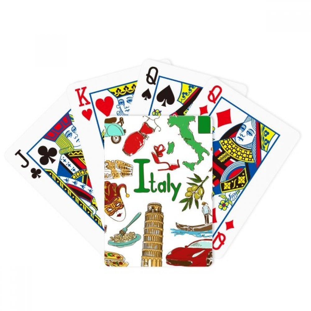 Italy Landscap Animals National Flag Poker Playing Cards Tabletop Game Gift