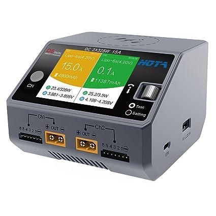 Amazon.com: goolsky Hota D6 doble canal cargador inteligente ...
