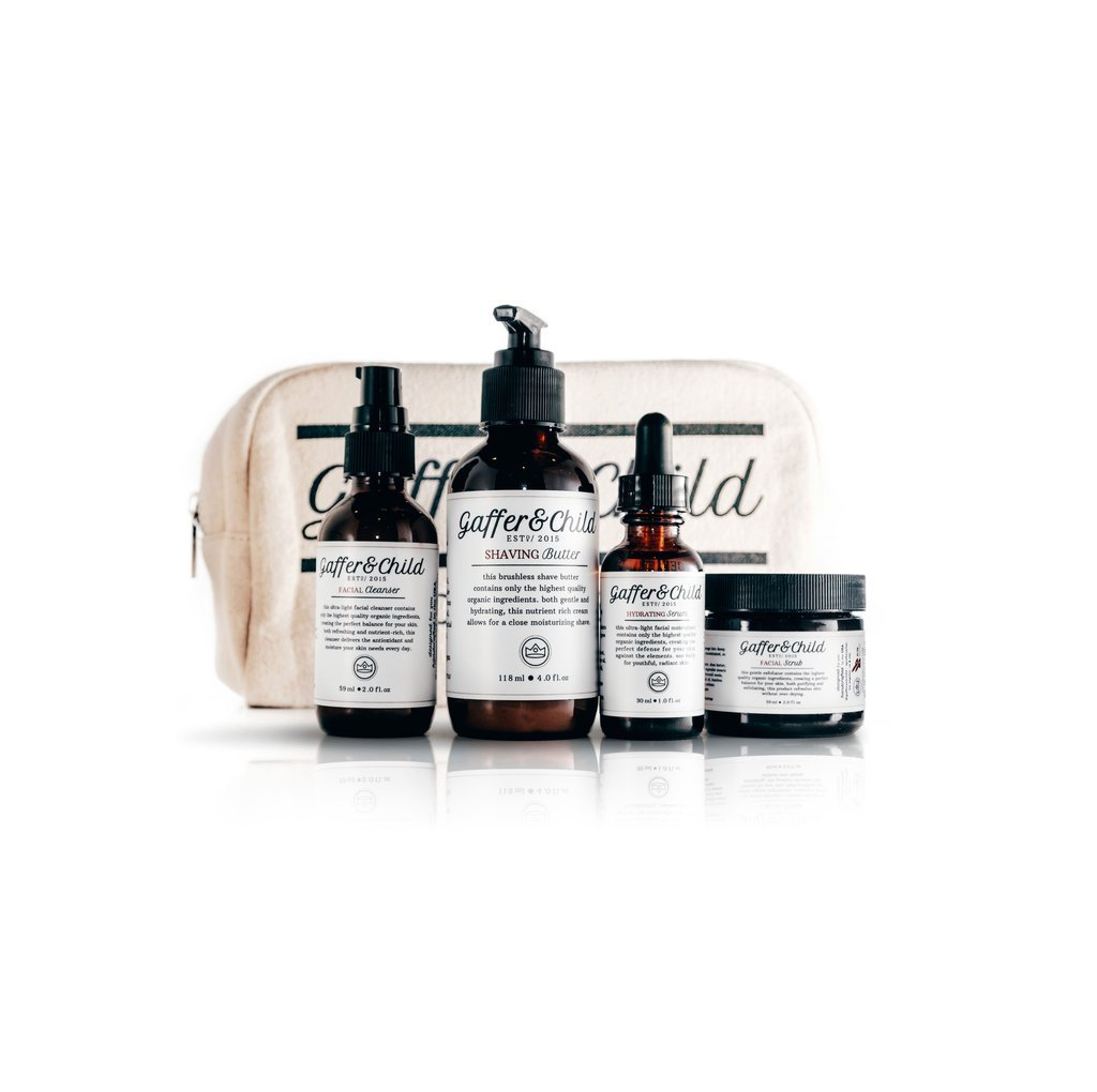 GafferΧld Signature Set with Travel Kit Bag, Hair Pomade, and Hair Comb