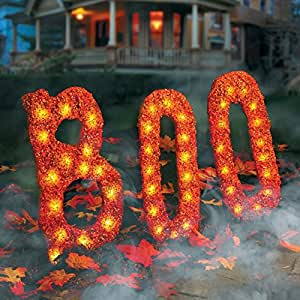 Pre-Lit BOO Halloween Yard Art Battery Operated