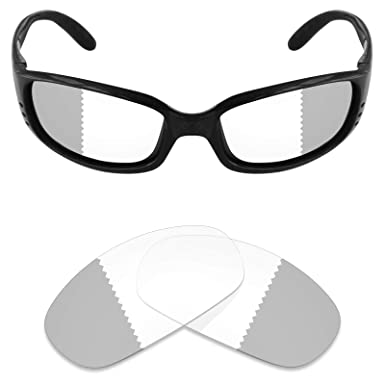 66cd665d94 Mryok UV400 Replacement Lenses for Costa Del Mar Brine - Eclipse Grey  Photochromic