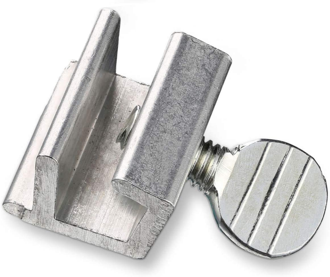 Metal No Tools Required. Fits Most Slide Window Tracks Window Locks Security Lock Sliding Windows Stopper with Adjustable Thumb Screw Key