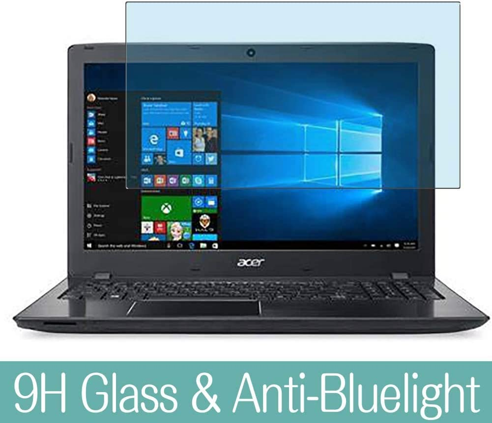 "Synvy Anti Blue Light Tempered Glass Screen Protector for Acer Aspire E5-574 / E5-574G / E5-574T / E5-574TG 15.6"" Visible Area 9H Protective Screen Film Protectors (Not Full Coverage)"