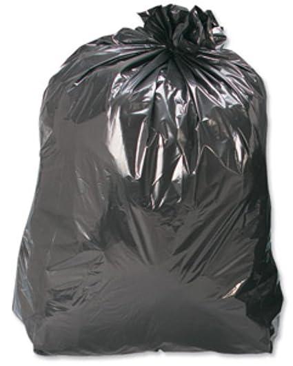 400 grande fuerte Color negro plástico Polietileno basura ...