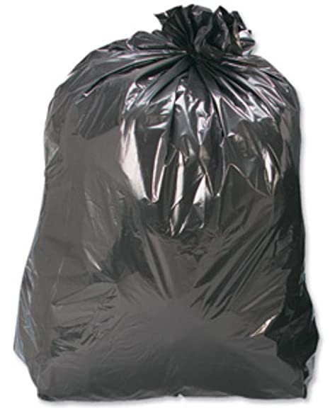100 Grandes fuerte Color negro plástico Polietileno basura ...