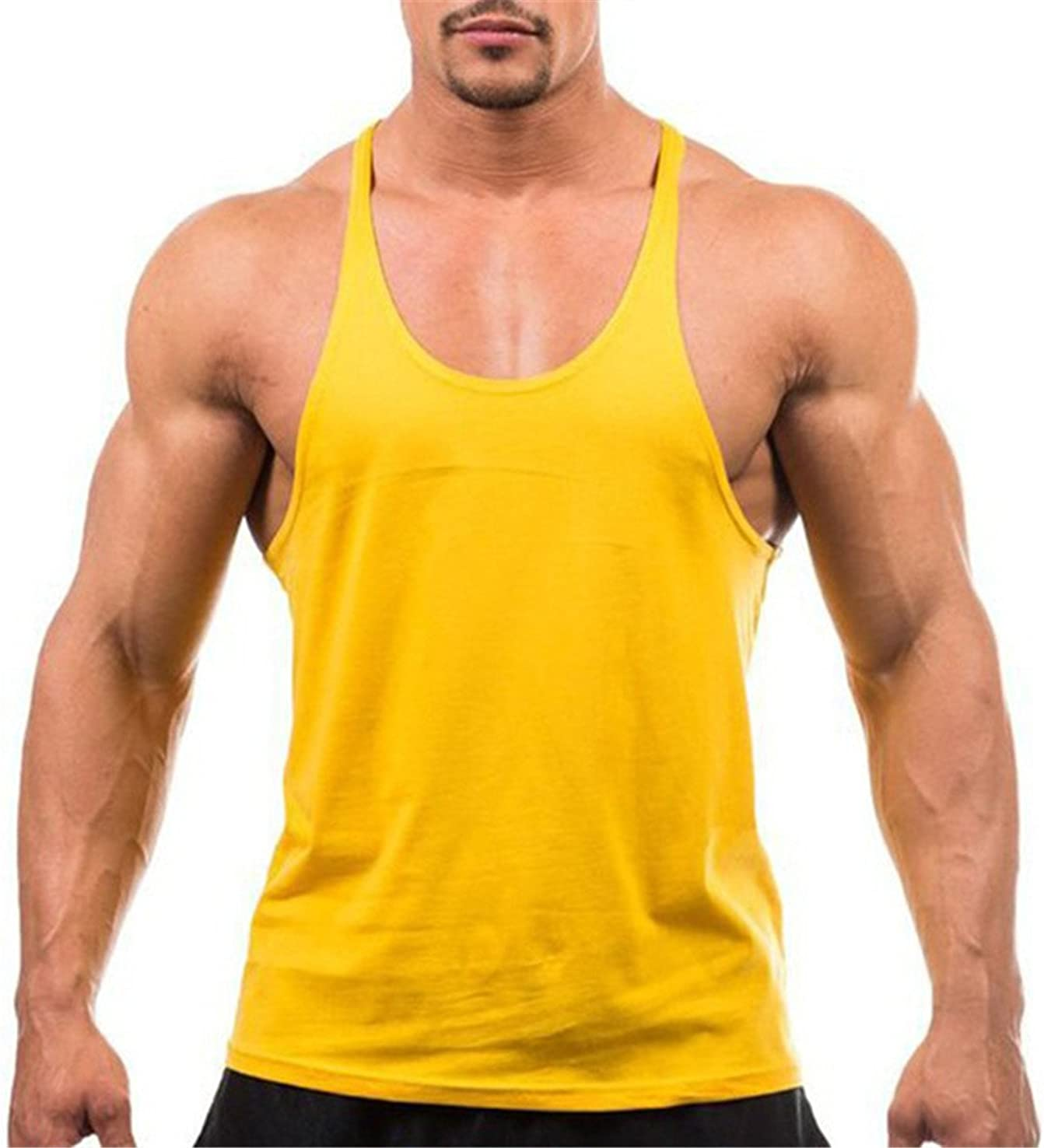 Chiced Mens T-Shirts Sleeveless Sportswear Training Fitness Sports Athletic Vests Mens Sports Top