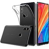 Peakally Cover per Xiaomi Mi Mix 2s, Trasparente Morbida TPU Silicone Ultra Sottile Custodia Case per Xiaomi Mi Mix 2s-Trasparente