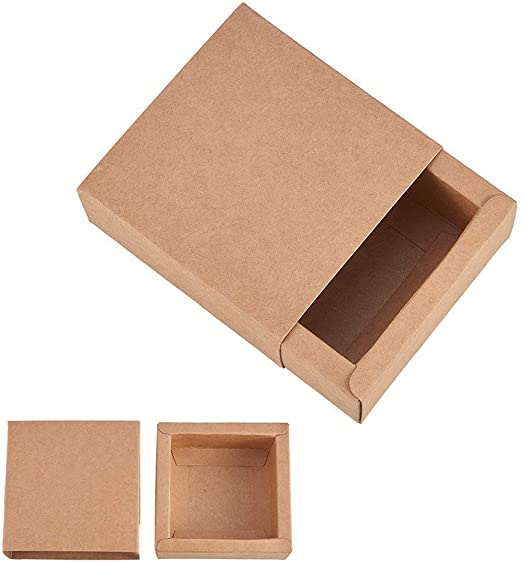 BENECREAT 20 Pack Caja de Cartón Kraft Cajas de Regalo para Fiesta ...