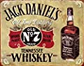 "Jack Daniels Old No. 7- Vintage Sign- Wall Art- 8 x 10""- Distressed Metal Sign Replica Print-Ready to Frame. Must Have For Kentucky Bourbon Whiskey Fans. Retro Addition To Man Cave-Dorm-Bar-Garage."