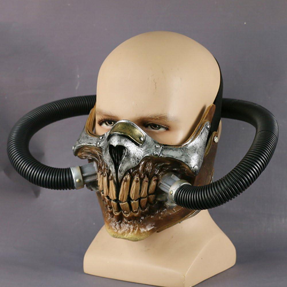 nihiug Máscara De Mad MAX Casco Cos Halloween Cosplay Máscara ...