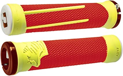 ODI AG-1 Aaron Gwin Signature Lock-On MTB//DH Bike Grips 135mm Orange Yellow