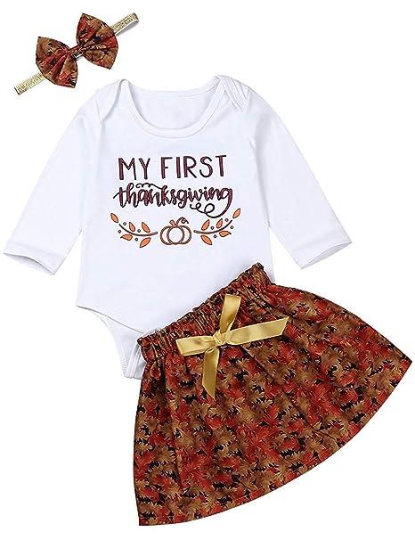 Amazon.com: Juego de trajes de Acción de Gracias para niñas ...