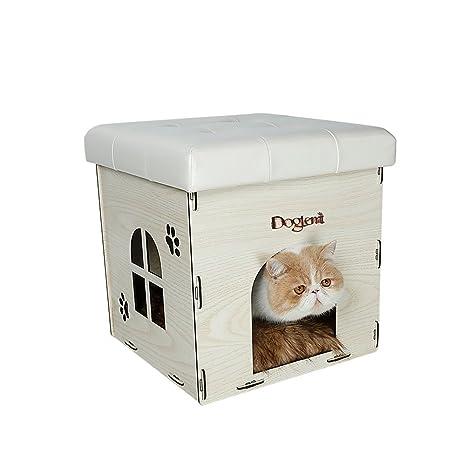 YNZYOG Suministros para mascotas Casa para gatos Casa para perros Nido de peluche Lavable desmontable Cómodo