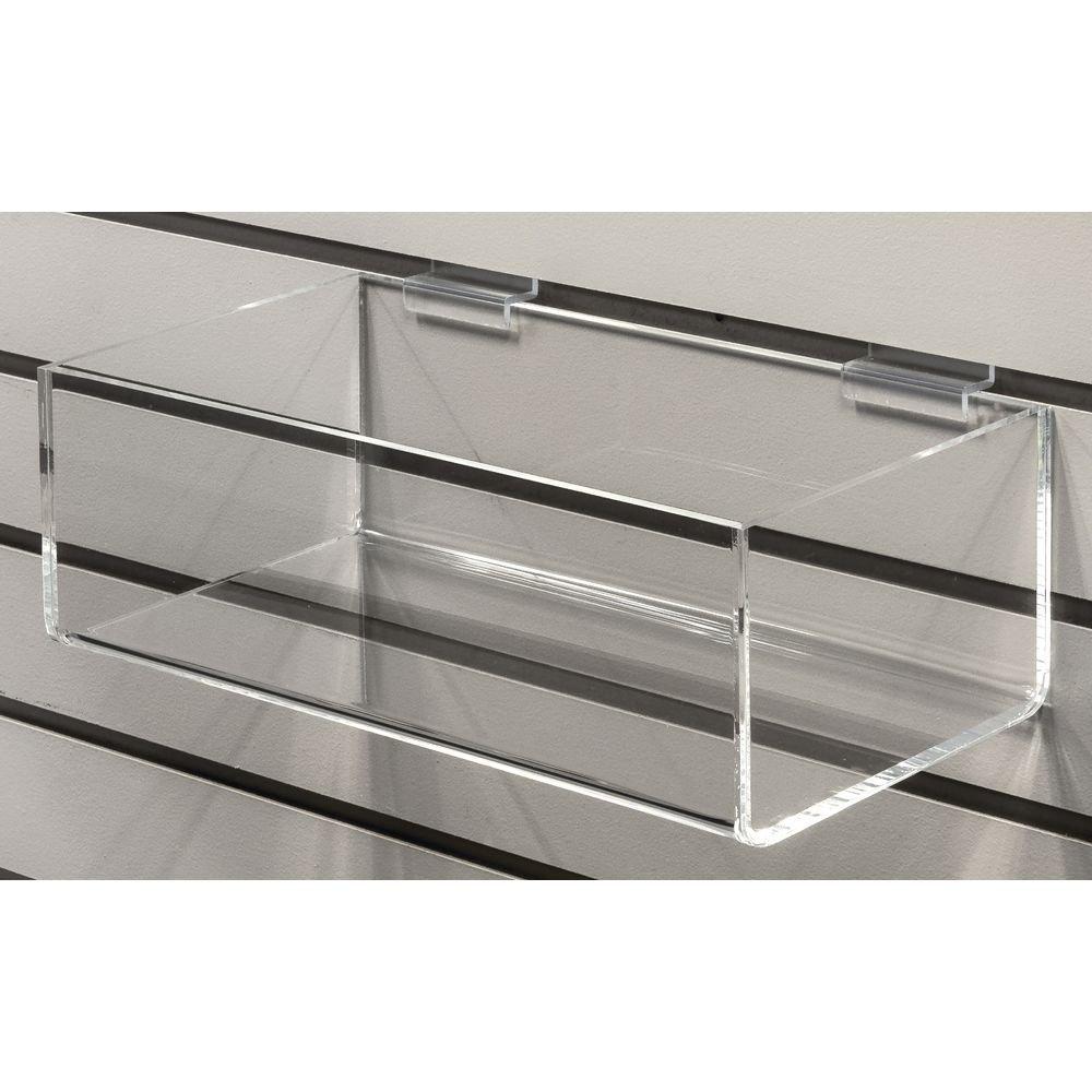 Acrylic Slatwall Tray, 12''W x 6''D x 4''H