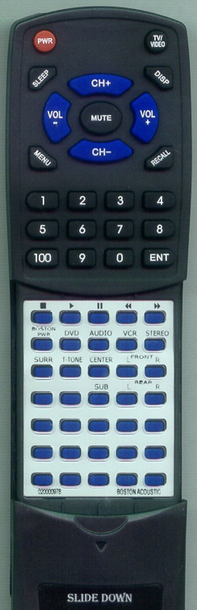 Replacement Remote Control for Boston Acoustic 020001090, 020000978, Digital Theater 6000, DT6000