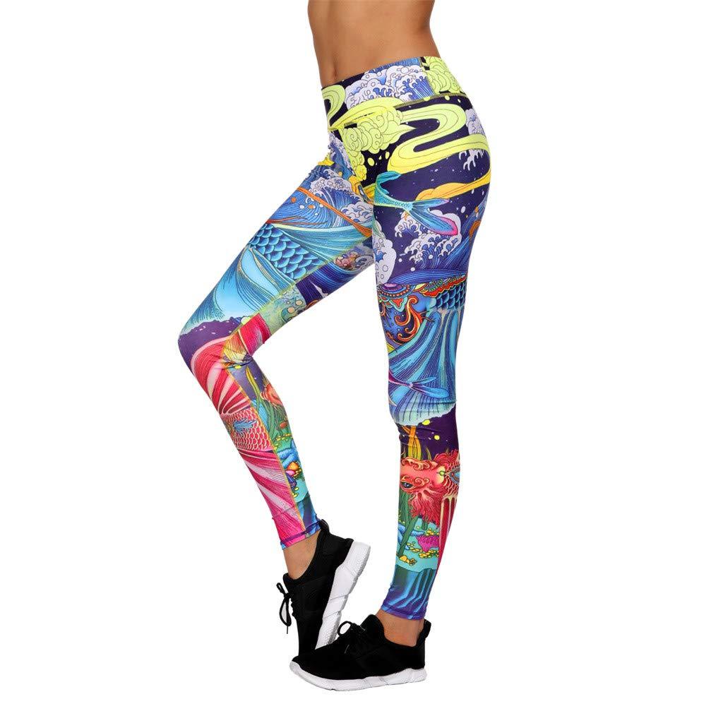 LMRYJQ Mujer Yoga Leggings Fitness Deportes Gimnasio ...